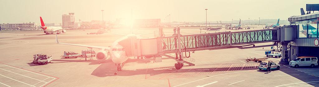 Flugzeug beim Boarding