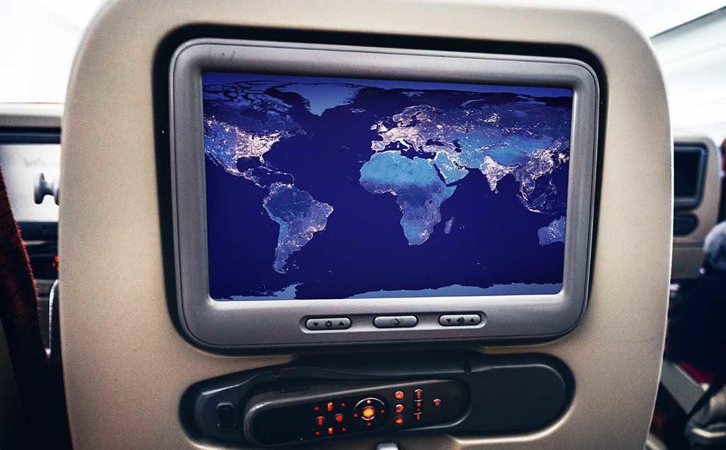 Multimedia im Flugzeugsitz