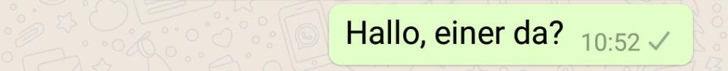 WhatsApp nicht erhalten