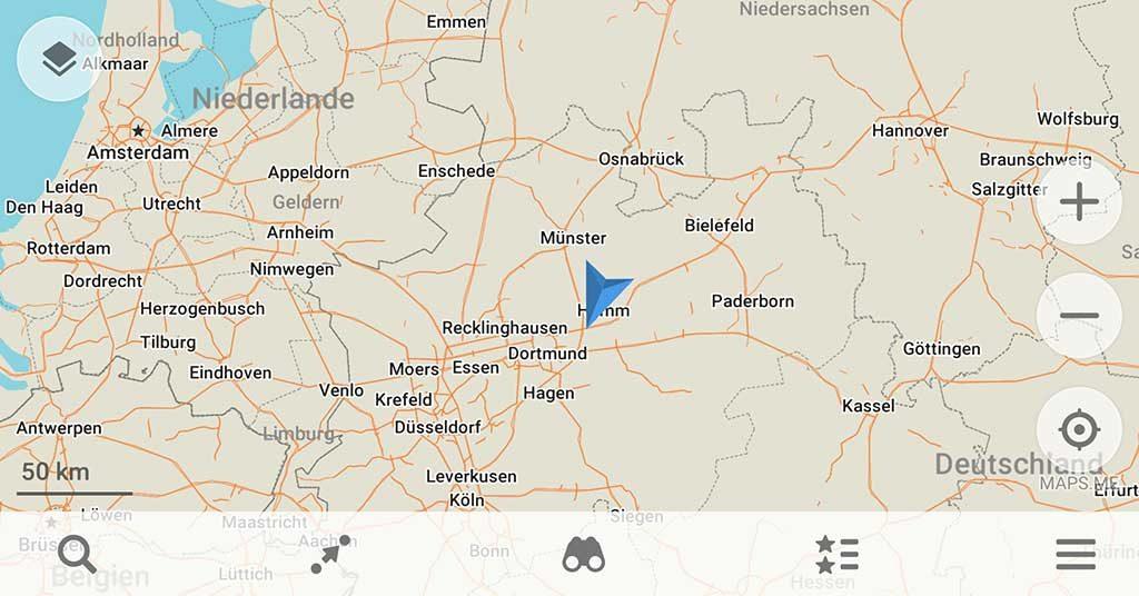 MAPS.ME mit Basiskarte (offline) | Zoom