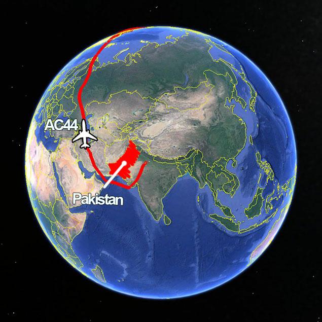 AC44 Luftraumsprerrung Pakistan