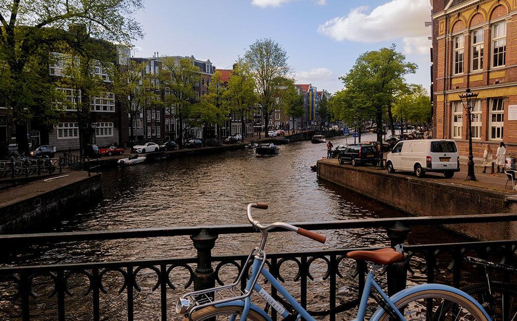 Amsterdam Brücke über Prinsengracht