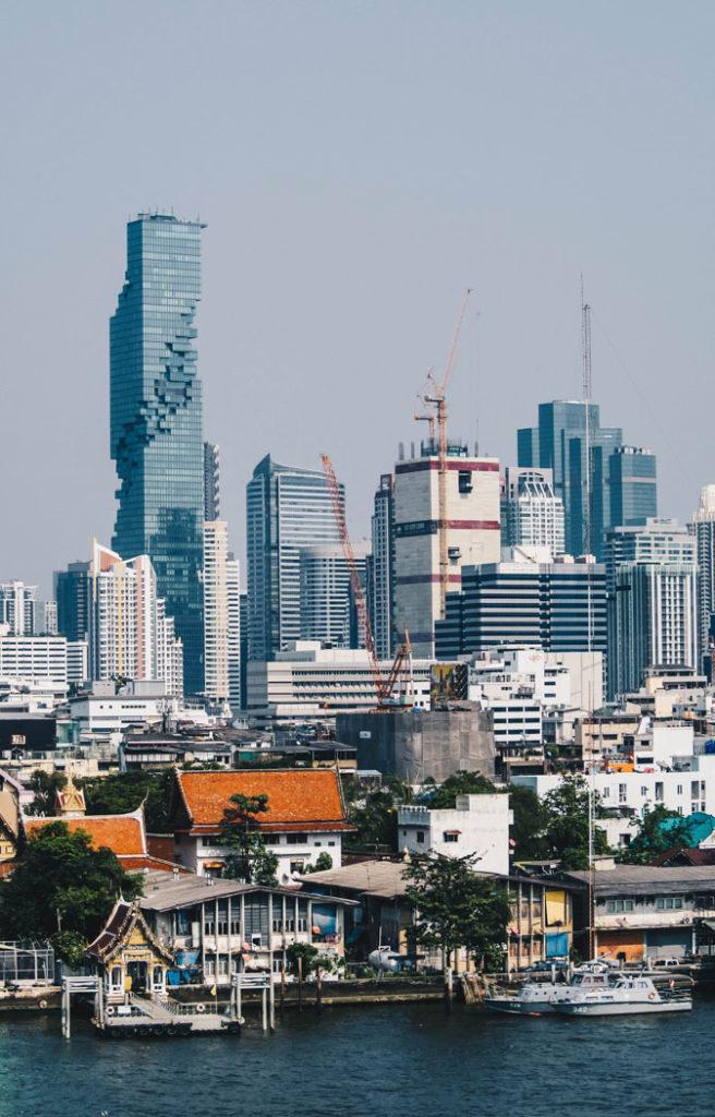 Bangkok Aussicht vom Einkaufszentrum ICONSIAM aufs Maha Nakhon
