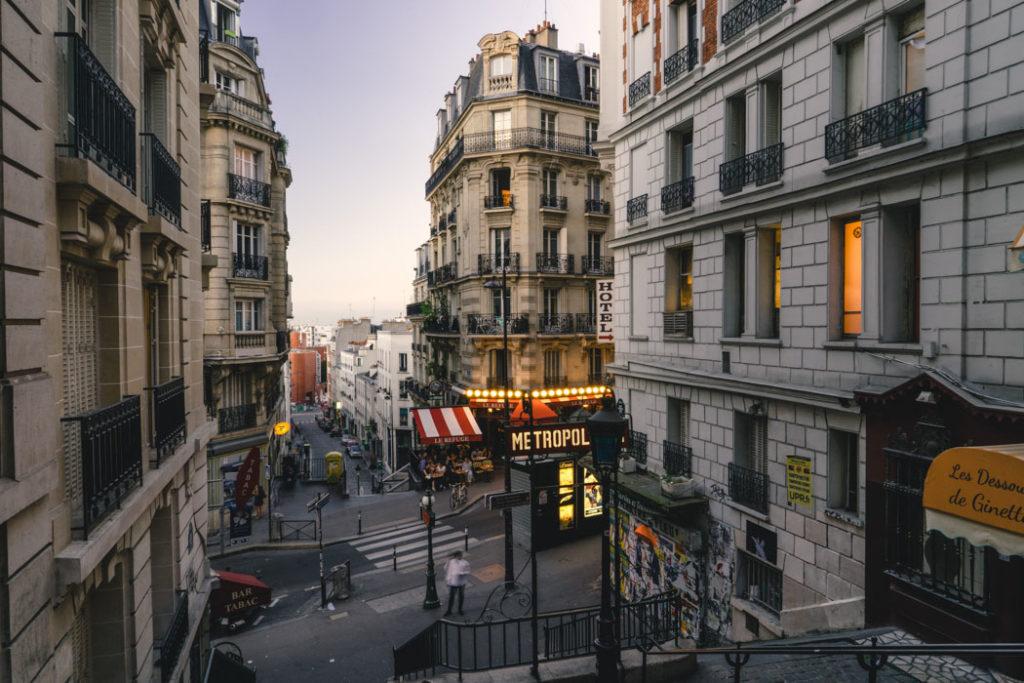 Paris Ausgang U Bahnhof Lamarck Caulaincourt