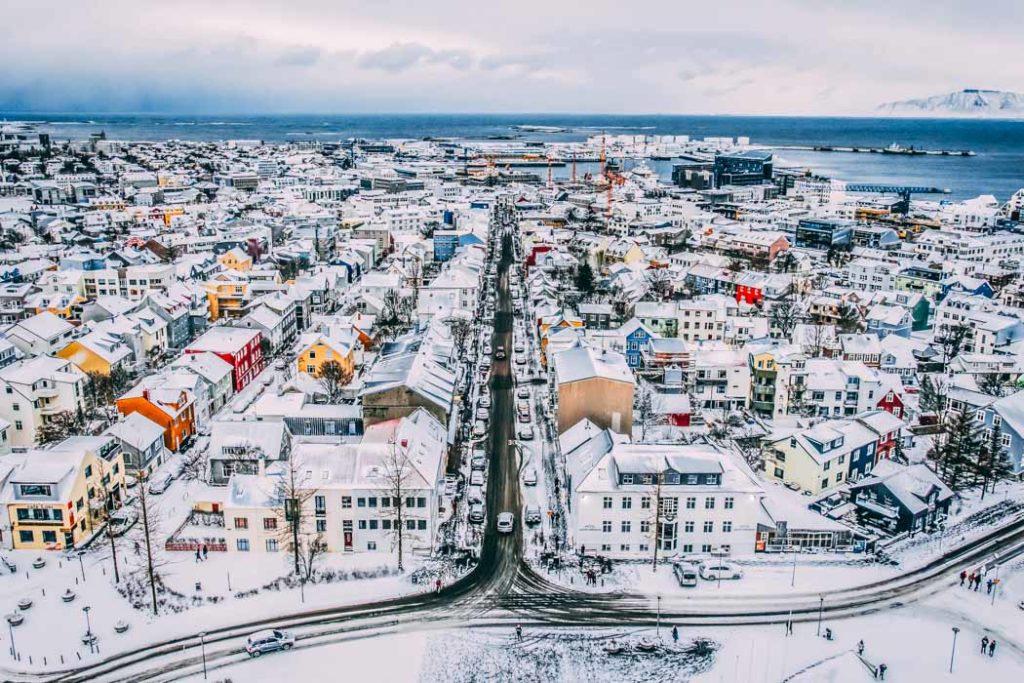 Reykjavík Blick von der Hallgrimskirche