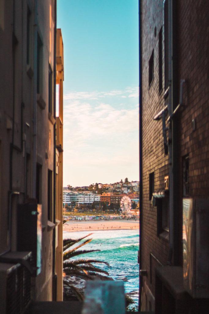 Sydney Interessanter Blick auf den Bondi Beach