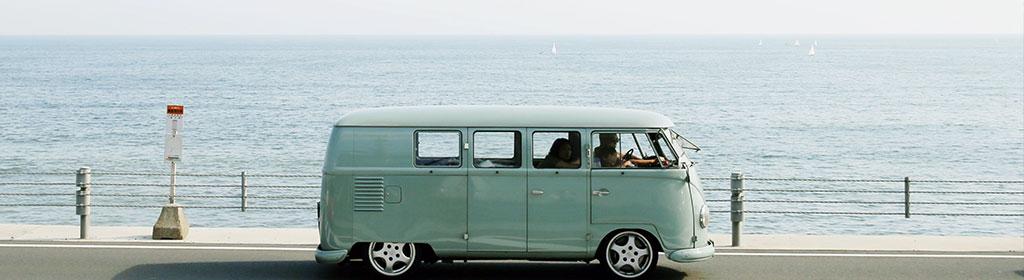 VW Bus Urlaub am Strand