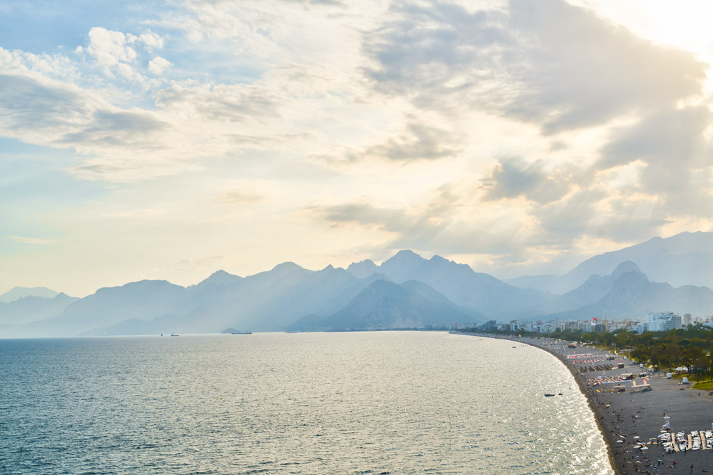 Antalya Blick auf Konyaaltı Beach