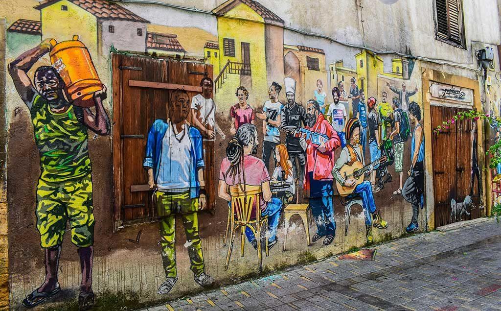 Nikosia | Graffiti in kleiner Seitengasse