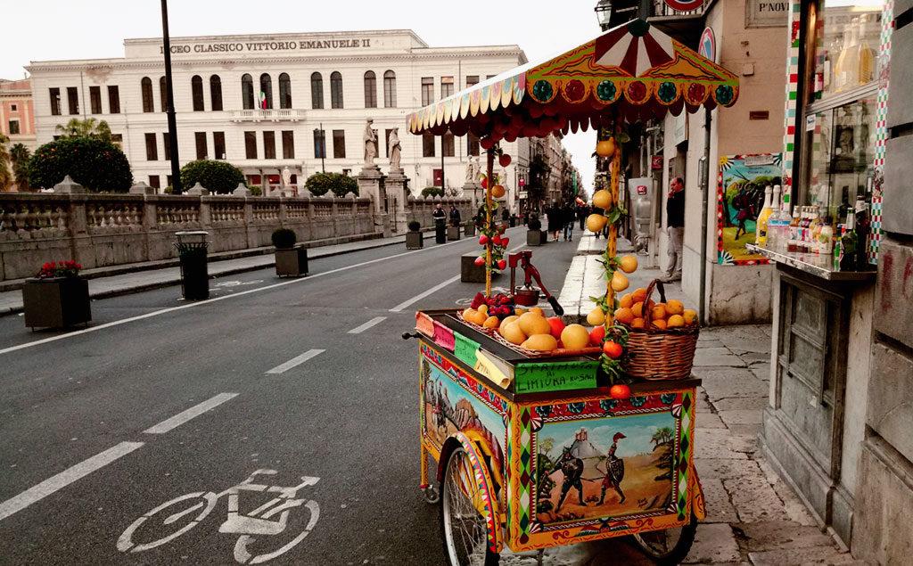 Sizilien | Zitrusfrüchte-Stand in Palermo