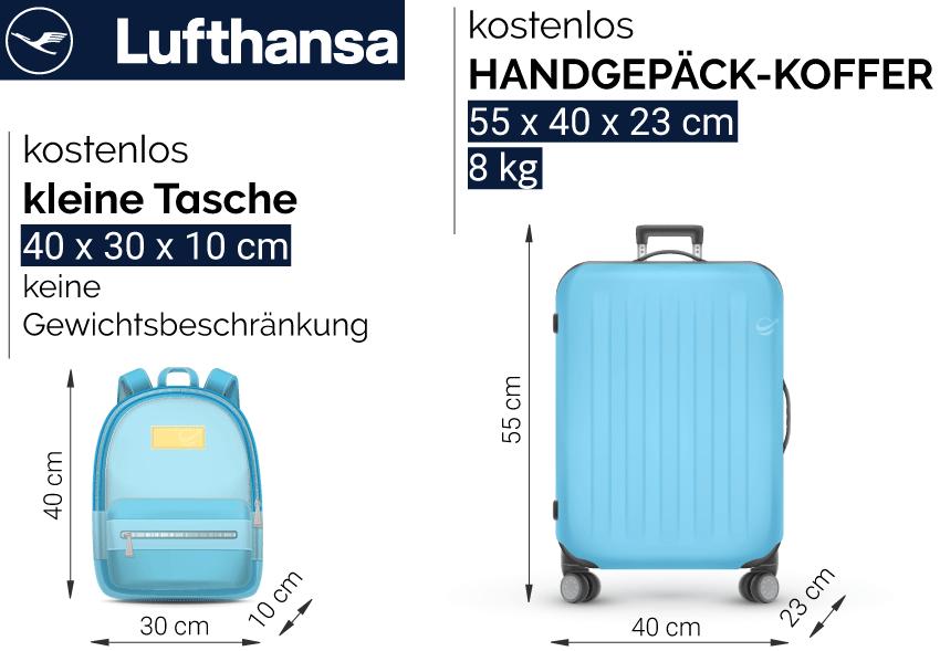 Lufthansa Handgepäck Maße Kosten